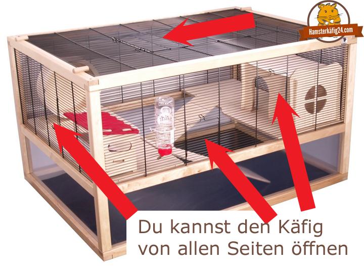 Hamsterkäfig Gitter Seite öffnen