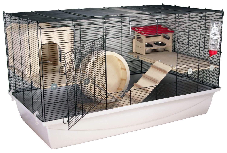 Hamsterkäfig artgerecht Gitter aufklappbar