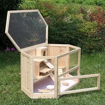 Doppelstock Hamsterkäfig Holz aufklappbar