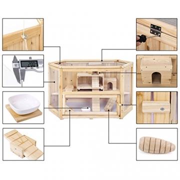 Doppelstock Hamsterkäfig Holz Komponenten