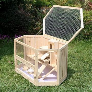 Doppelstock Hamsterkäfig Holz mit Deckel