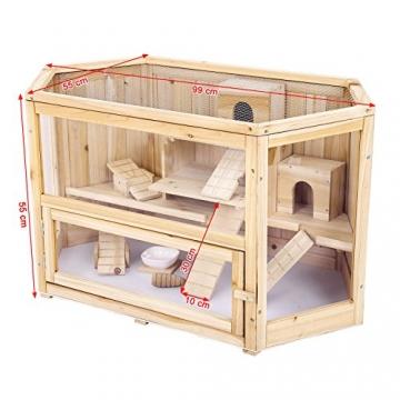Doppelstock Hamsterkäfig Holz Seite