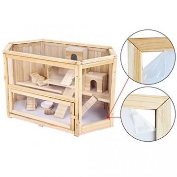 Doppelstock Hamsterkäfig Holz von Seite