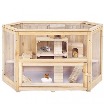Doppelstock Hamsterkäfig Holz vorn