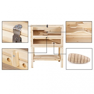 Hamsterkäfig aus Holz Komponenten