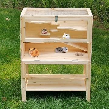 Hamsterkäfig aus Holz von Songmics