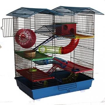 Hamsterkäfig blau Gitter