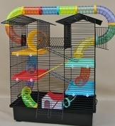 Hamsterkäfig bunt