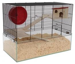 Hamsterkäfig Glas Gitter