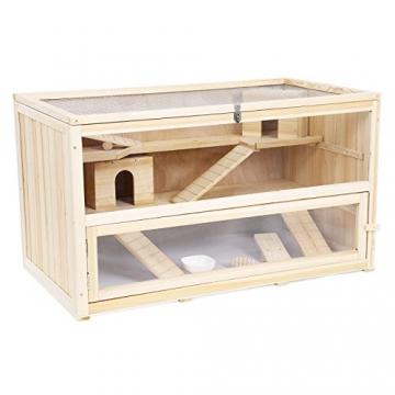 Hamsterkäfig Holz braun