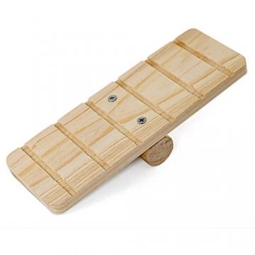 Hamsterkäfig Holz braun mit Wippe