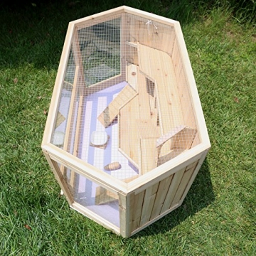 Hamsterkäfig Holz XXL mit stabiler Rückenwand