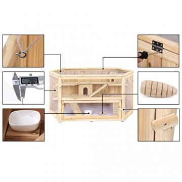 Hamsterkäfig Holz XXL mit Accessoires