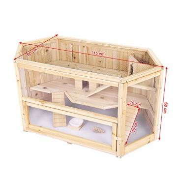 tectake xxl holz hamsterk fig kleintierk fig m usek fig mit zubeh r braunschweig. Black Bedroom Furniture Sets. Home Design Ideas