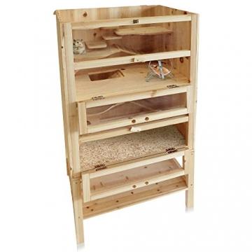 Hamsterkäfig Holzsstall aufklappbar