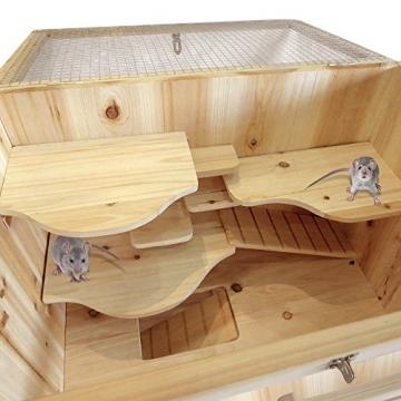 Hamsterkäfig Holzsstall doppelstock