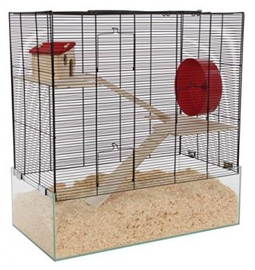 Großer Hamsterkäfig mit passender Einstreutiefe