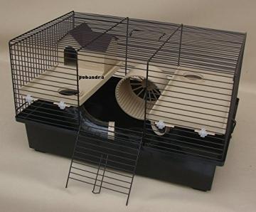 Hamsterkäfig mit Laufrad und Haus