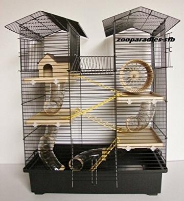 Hamsterkäfig schwarz Etagen