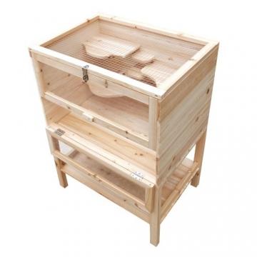 Hamsterkäfig XXL Holz doppelstock