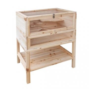 Hamsterkäfig XXL Holz mit Ablage