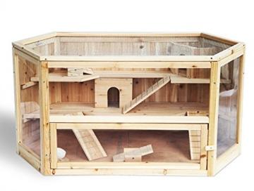 Hamsterstall Holz sechseckig