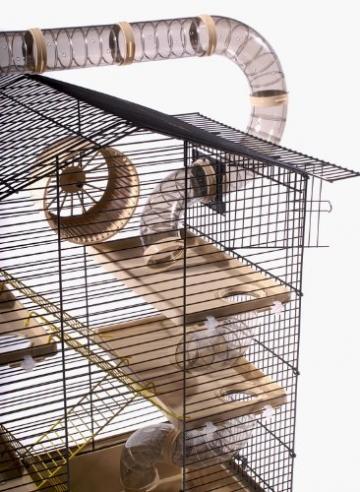 XXL Hamsterkäfig mit Röhren ringsherum