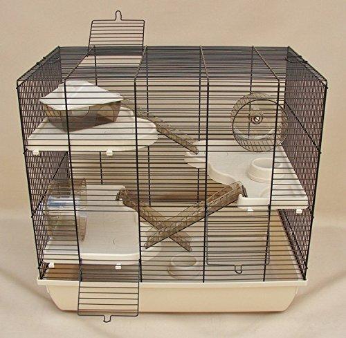 Beiger Hamsterkäfig mit Etagen