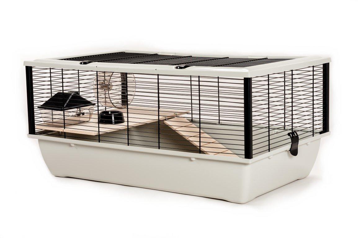 Gitter Hamsterkäfig Silberfarben weiß