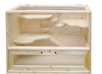 Hamsterkäfig Holz doppelstöckig