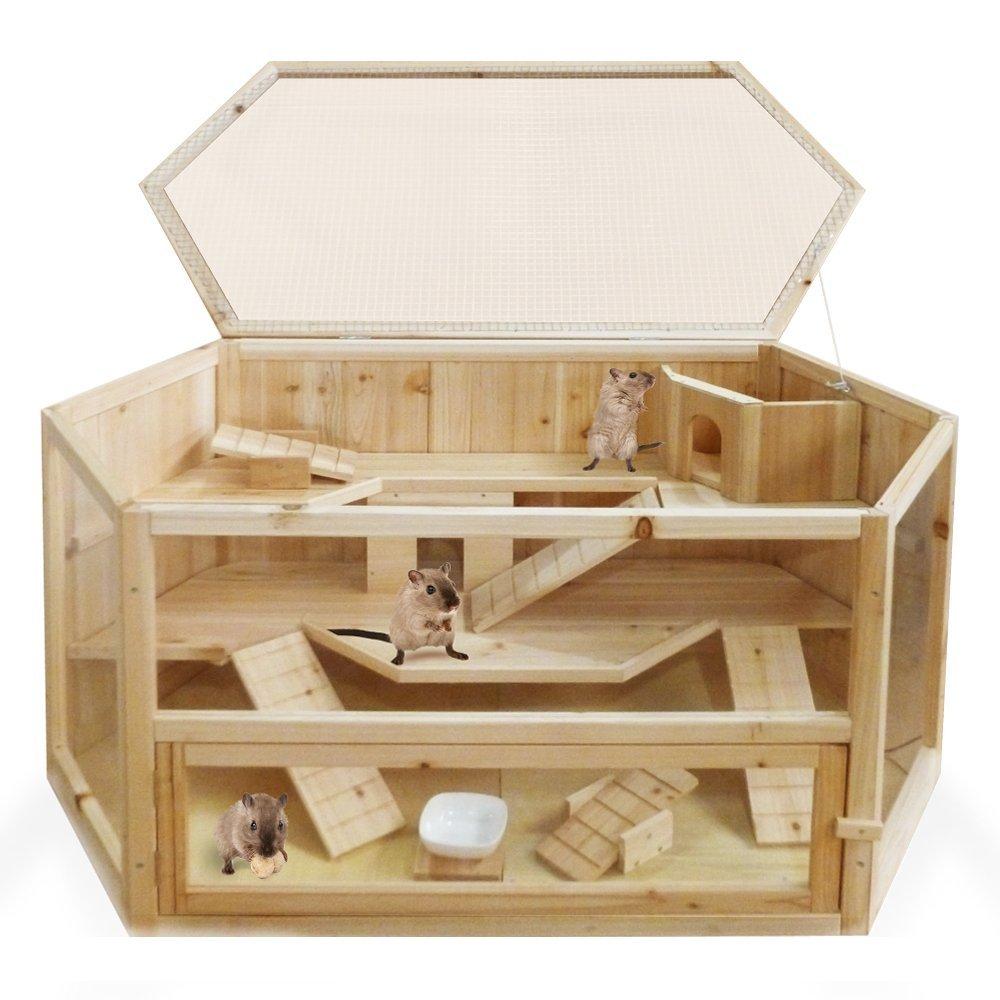 Hamsterkäfig aus Holz XXL