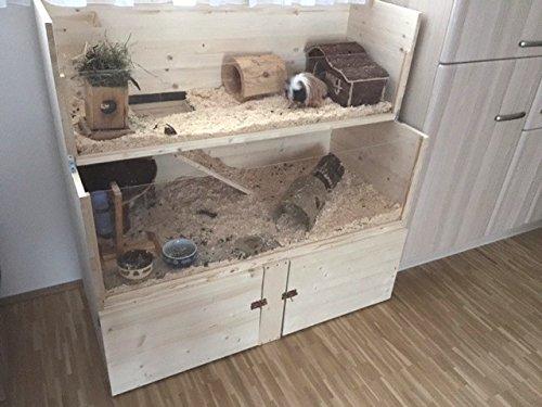 Hamsterkäfig aus Holz doppelstöckig