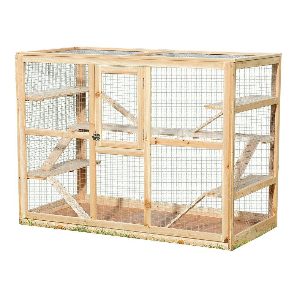 Hamsterkäfig aus Holz drei Etagen
