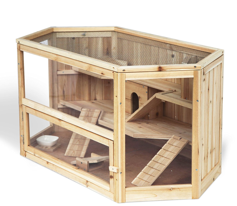 Hamsterkäfig aus Holz groß