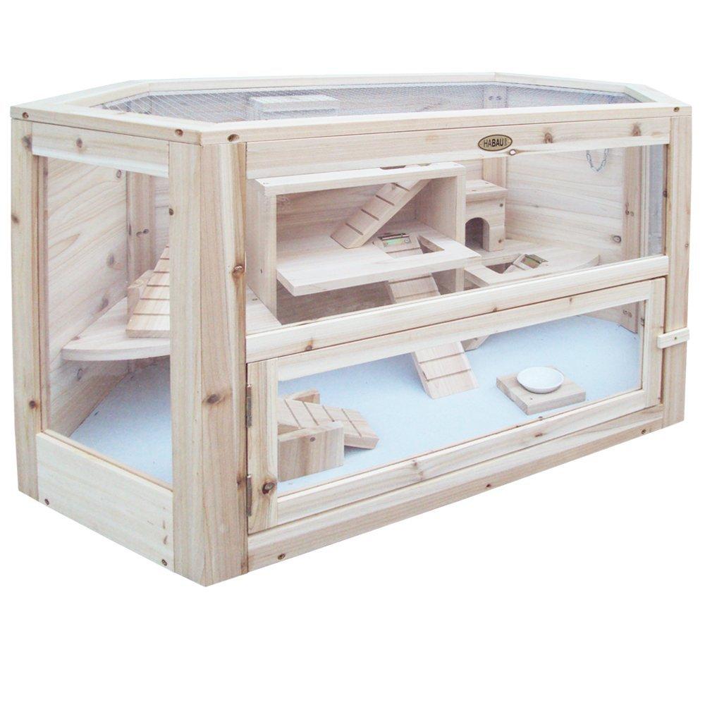 Hamsterkäfig aus Holz weiß