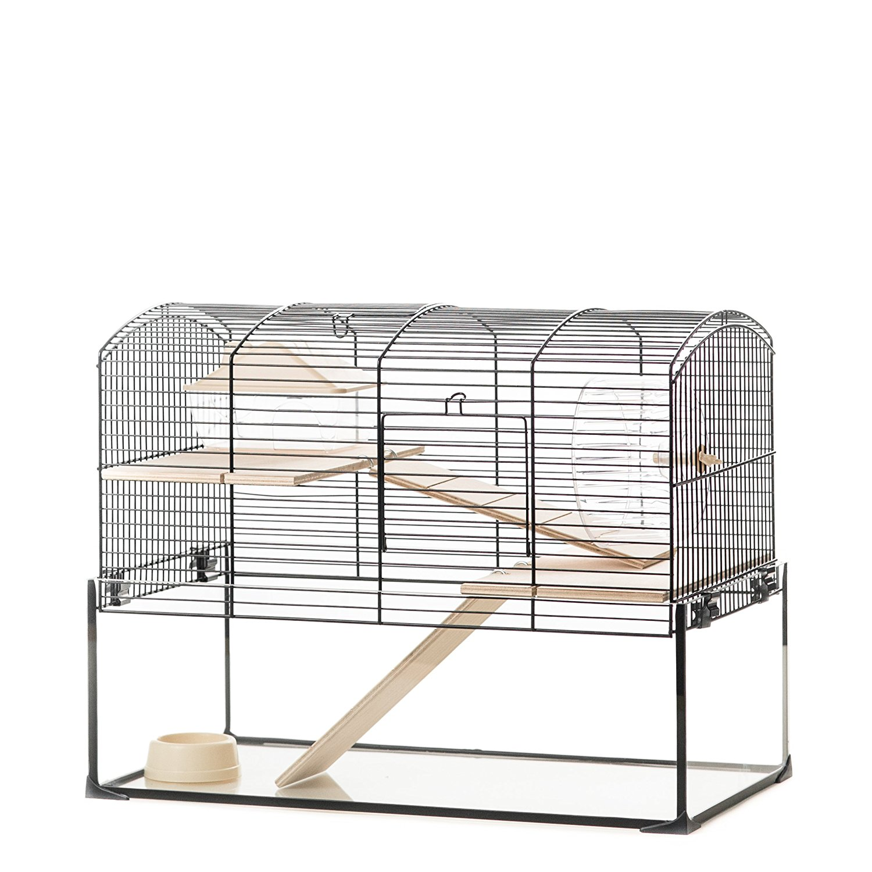 Hamsterkäfig mit Gitter und Glaswanne