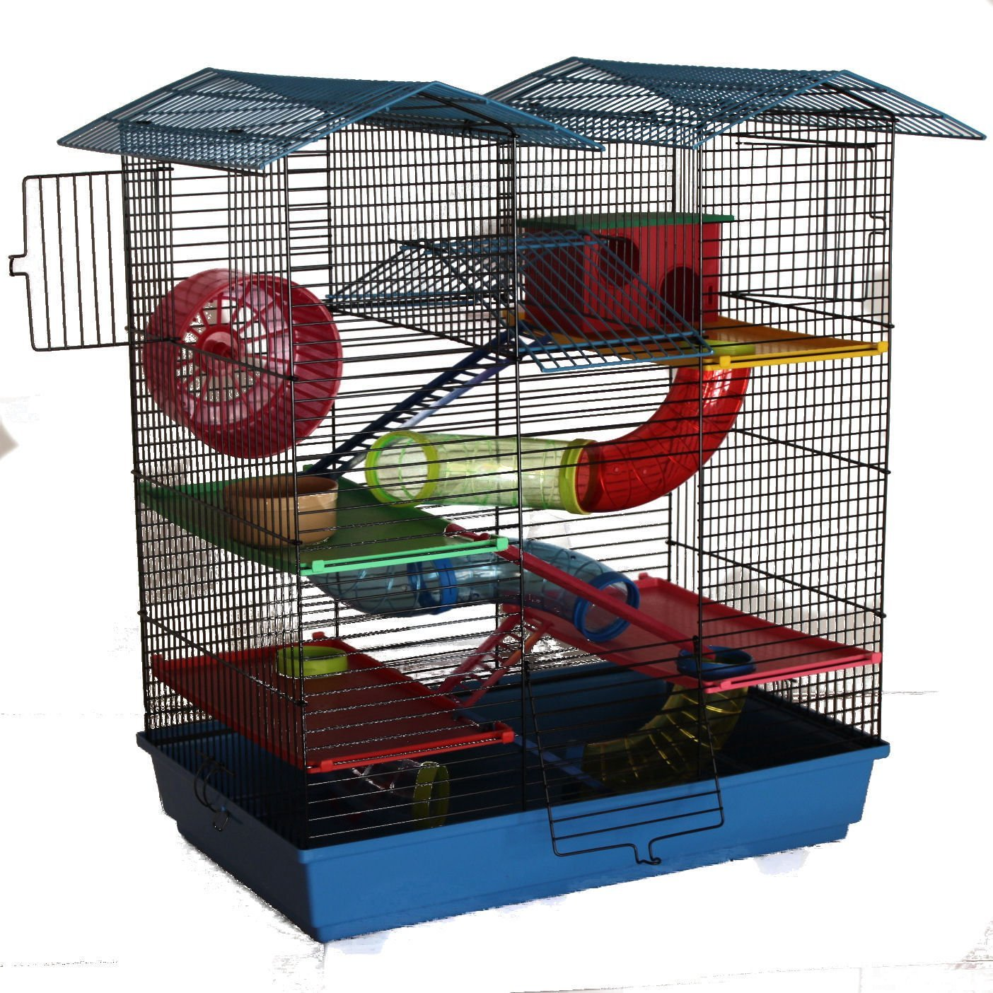 Hamsterkäfig mit Gitter und Röhrensystem