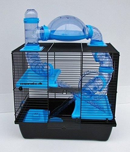 Hamsterkäfig mit Gittern und Röhren