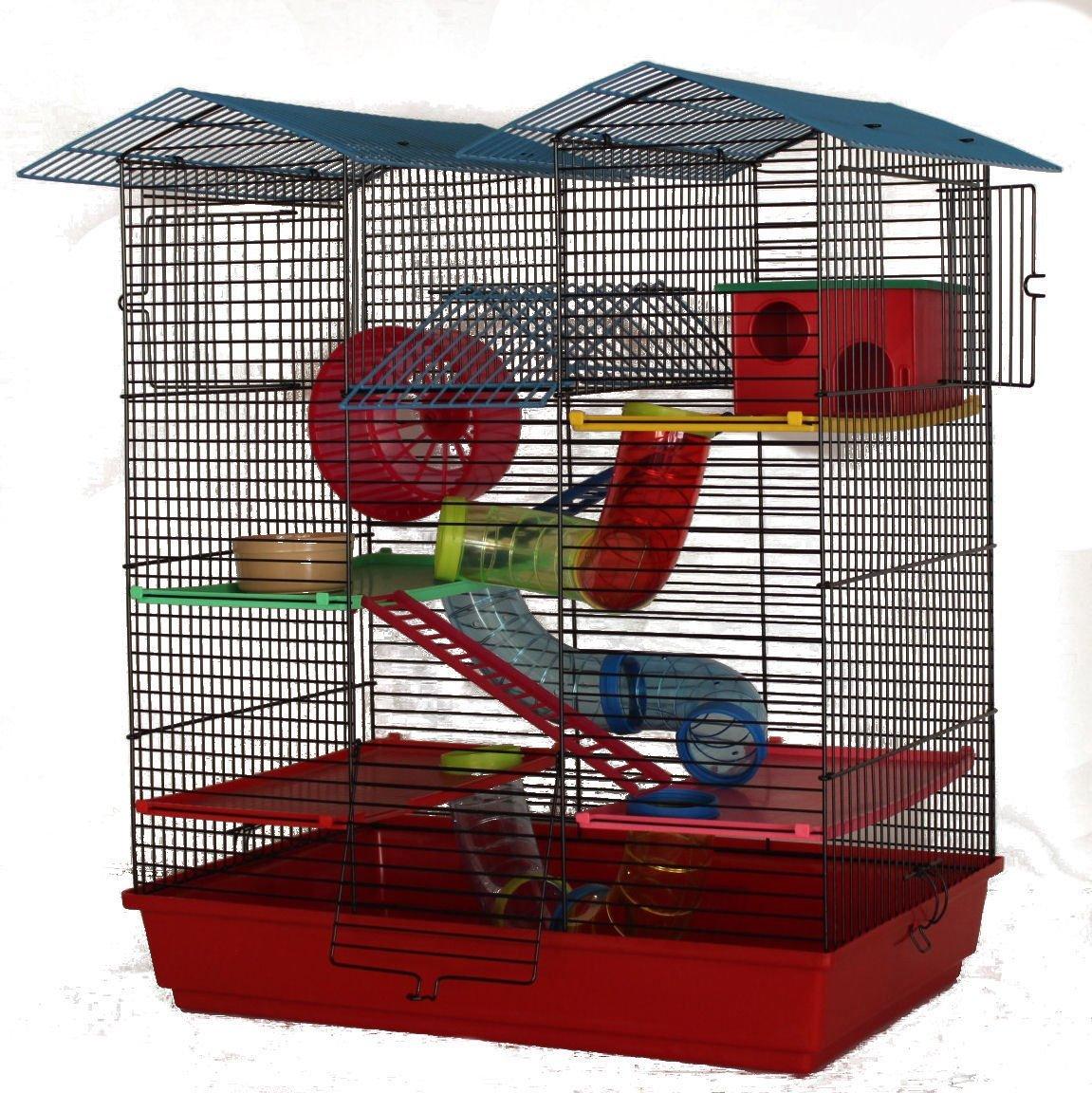 Hamsterkäfig mit Gittern und Rohre