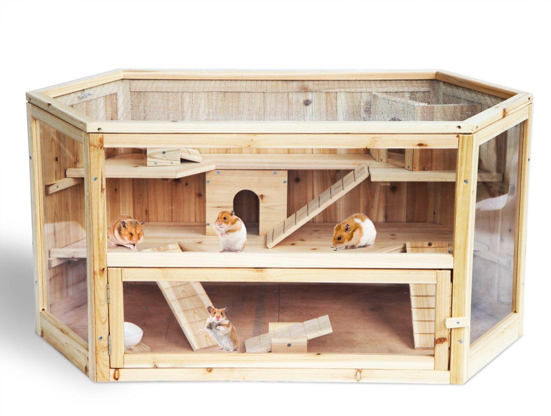 hamsterk fig holz und plexiglas die besten hamsterk fige im vergleich. Black Bedroom Furniture Sets. Home Design Ideas