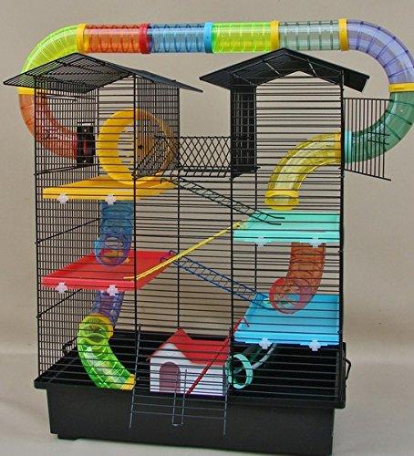 bunter Hamsterkäfig mit Gittern