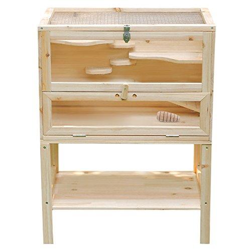 Günstiger Hamsterkäfig aus Holz